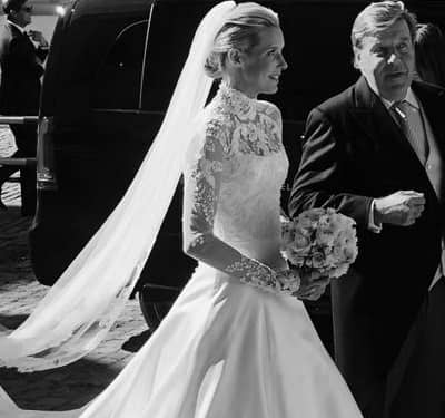Phillipa Lepley High Neck Wedding Dress Long Sleeved Wedding Dress Silk Duchess Satin Wedding Dress Couture Wedding Dress London UK