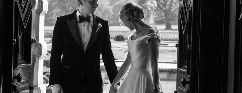 Phillipa Lepley Silk Duchess Satin Wedding Dress with Bows Couture Wedding Dress London UK